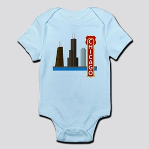 Chicago Illinois Skyline Infant Bodysuit